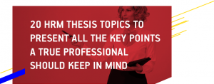 HRM Thesis Topics