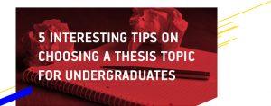 Thesis Topic for Undergraduates