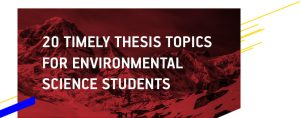 Environmental Science Thesis Topics